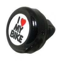 Звонок Green Cycle GCB-1051A-BK (I love my bike) Стальной Черный