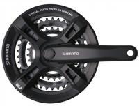 Шатуны SHIMANO FC-M171, 170мм, 48X38X28, защита, черн