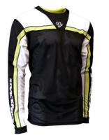 Велофутболка Raceface STAGE JERSEY - Long Sleeve BLACK/LIME