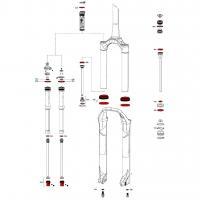 Ремкомплект для вилок service kit ROCKSHOX SID RLC A1 от 2017