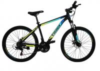 "Велосипед Trinx MAJESTIC M100 26"" Matt Black Blue Yellow"