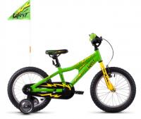 "Велосипед детский Ghost POWERKID 16"" Green Yellow Black 2019"