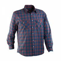 Рубашка RaceFace No.5 MENS SHIRT-BLUE/ORG PLAID