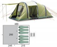 Палатка шестиместная Pinguin Interval 6 Airtube