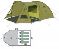 Палатка четырехместная Pinguin Campus 4
