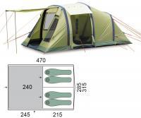 Палатка четырехместная Pinguin Interval 4 Airtube