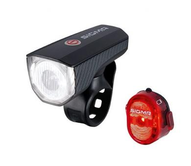 Комплект фонарей Sigma Sport AURA 40 K-SET NUGGET II FLASH USB