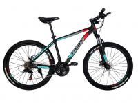 "Велосипед Trinx MAJESTIC M100 26"" Matt Black Red Cyan"