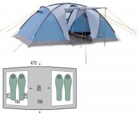 Палатка четырехместная Pinguin Base Camp