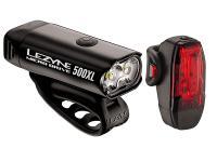 Набор велосипедных фонарей Lezyne Micro Drive 500XL and KTV PAIR Black 2018
