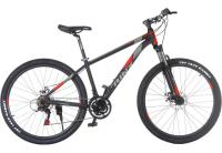 "Велосипед Trinx Majestic M136 Elite 27.5"" Matt-Black-Grey-Red"
