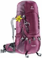 Женский рюкзак Deuter Aircontact 50+10 SL blackberry-aubergine