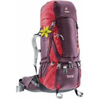 Женский рюкзак Deuter Aircontact 60+10 SL aubergine-cranberry