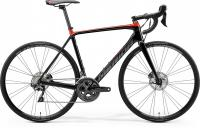 Велосипед шоссе MERIDA SCULTURA DISC LIMITED GLOSSY BLACK RED 2020