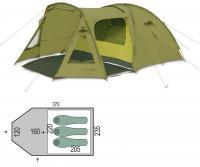 Палатка трехместная Pinguin Campus 3