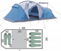 Палатка шестиместная Pinguin Omega 6