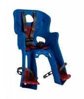 Сиденье перереднее Bellelli RABBIT Handlefix до 15кг, синее с красной подкладкой