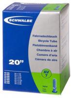 """Камера 20"""" (40/62x406) a/v 40мм Schwalbe AV7 IB AGV"""