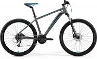 "Велосипед горный 27.5"" Merida BIG.SEVEN 40-D Matt Dark Silver Blue Black"
