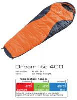 Спальник Deuter Dream Lite 400 Sun Orange Midnight -8 Right