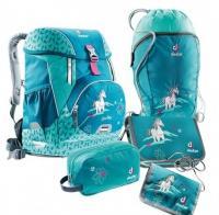 Набор школьный Deuter OneTwoSet - Sneaker Bag цвет 3037 petrol horse