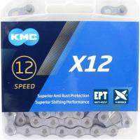 Цепь KMC X12 12 скоростей 126 звеньев Silver