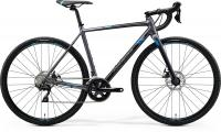 "Велосипед 28"" MERIDA MISSION CX 400 MATT SILVER BLUE 2020"