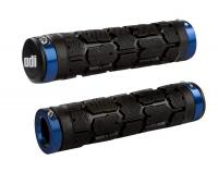 Грипсы для велосипеда ODI Rogue MTB Lock-On Bonus Pack Black with Blue Clamps