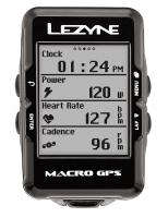 Велокомпьютер с GPS Lezyne MACRO GPS HR LOADED +пульсометр Black
