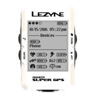 Велокомпьютер с GPS Lezyne SUPER GPS 2019 Limited White