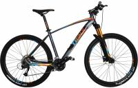 "Велосипед Trinx Big7 B700 27.5"" 18"" Matt Grey Orange Blue"