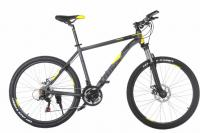 "Велосипед TRINX Majestic M136 26"" Matt Grey Yellow Black"