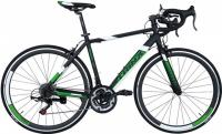 Велосипед шоссе Trinx Tempo 1.0 700C Matt Black Green White
