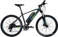 "Велосипед электро Trinx E-Bike X1E 26"" Matt Black Green Blue"