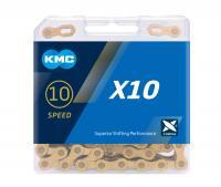 Цепь KMC X10 GOLD 10 скоростей с замком 114 звеньев