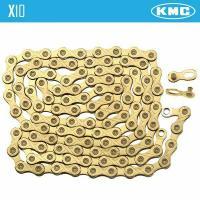 Цепь KMC X10 10 скоростей с замком 114 звеньев GOLD