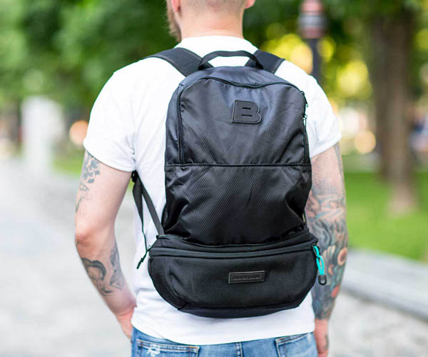 BACKPACK ATB AMAIZINGLY TRANSFORMED BAG BLACK